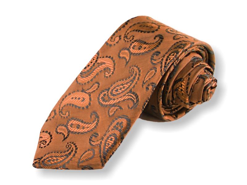 Kravata - kašmírová zlatá