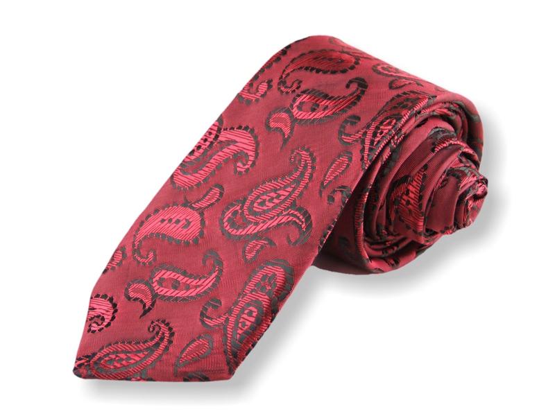 Kravata - kašmírová červená