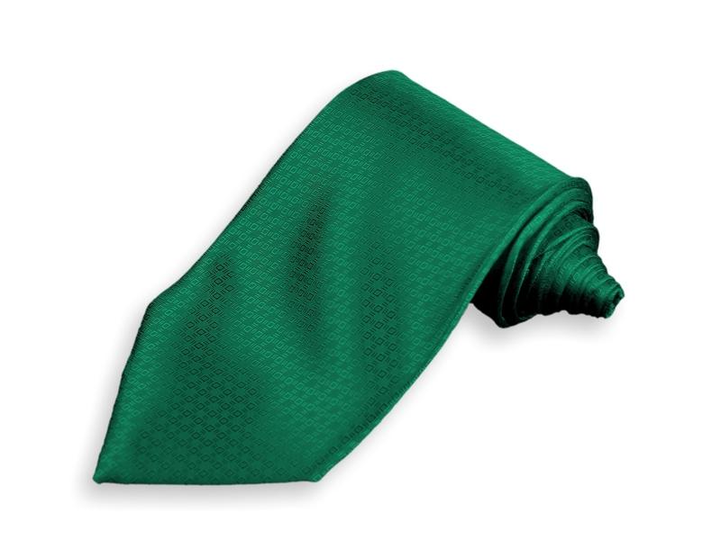 Kravata -  tmavě zelená