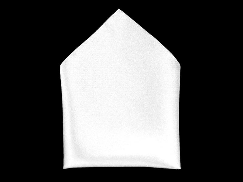 Kapesník společenský - bílý