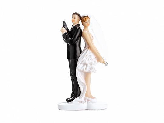 Svatební figurka tajní agenti