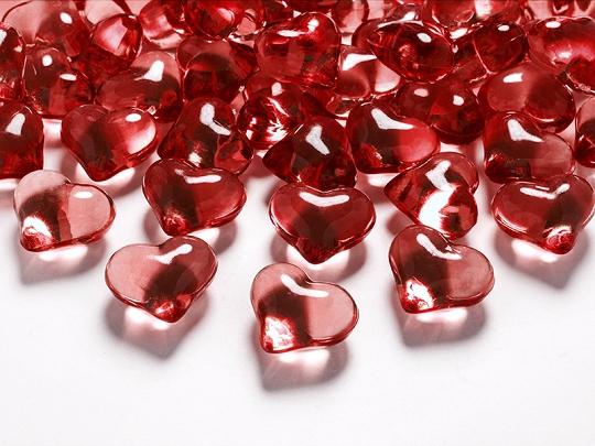 Krystalové srdce červené