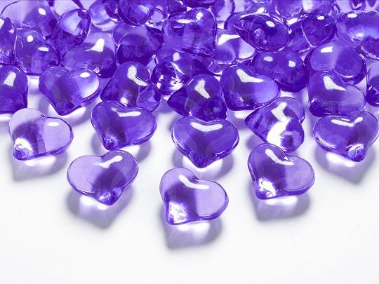 Krystalové srdce fialové