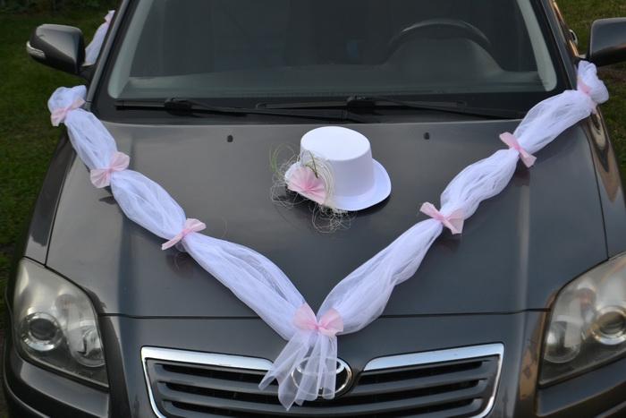 Sada na auto ženicha - růžová