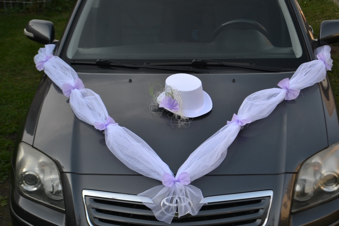 Sada na auto ženicha - lila