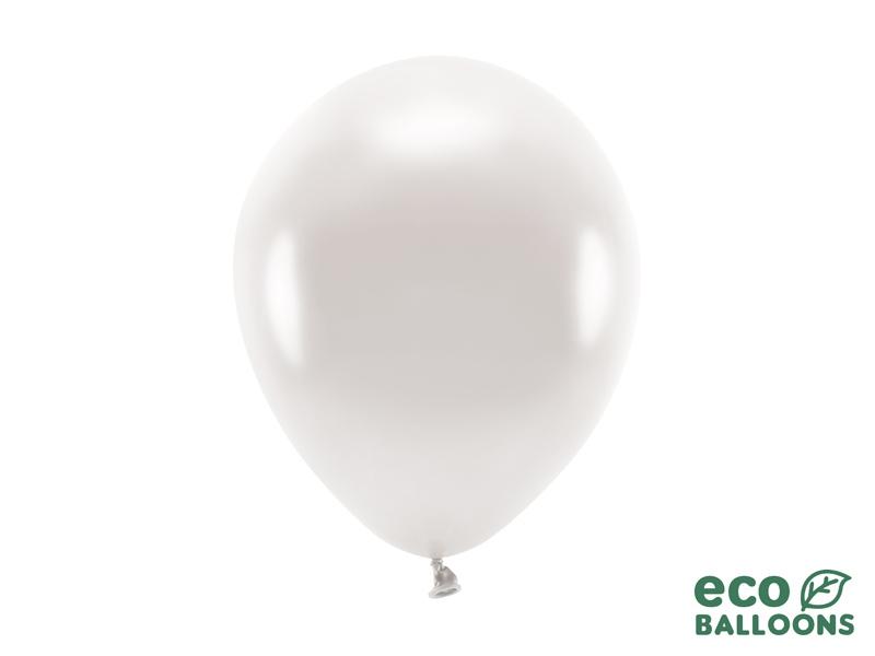 Metalický balónek - bílá perlová