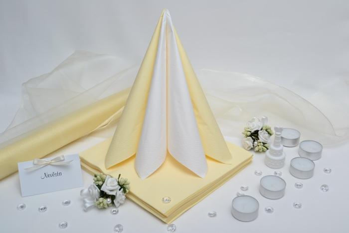 Sada DEKOR pro svatební stůl - bílá/krémová