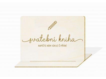 Svatební cedulka psací kniha