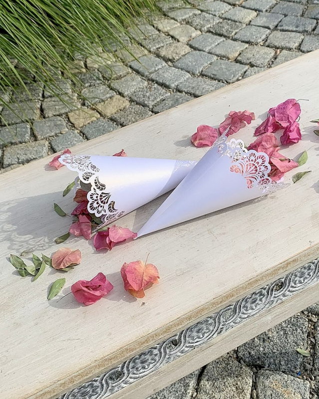 Svatební kornouty (8ks) - 2117