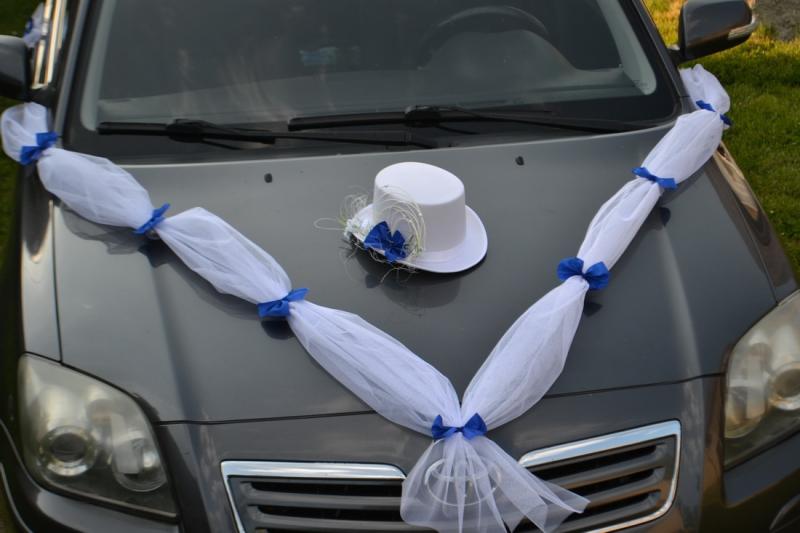 Sada na auto ženicha - modrá